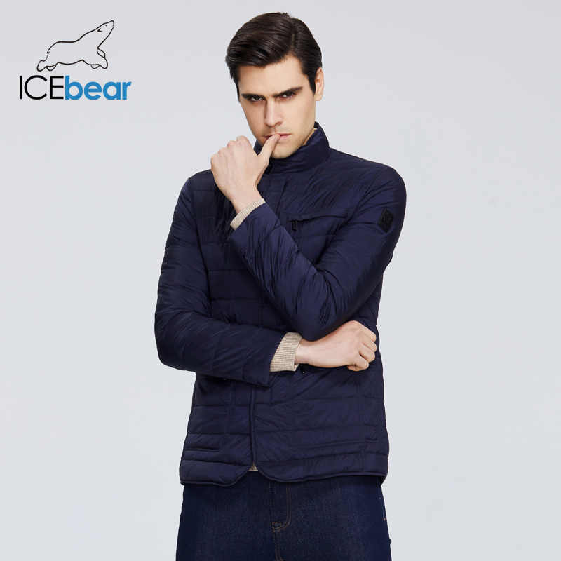 Icebear 2020 Nieuwe Heren Jas Lente Winddicht Dunne Katoenen Mannen Jas Mode Toevallige Bijgesneden Jas Merk Mannen Jas MWC20245D