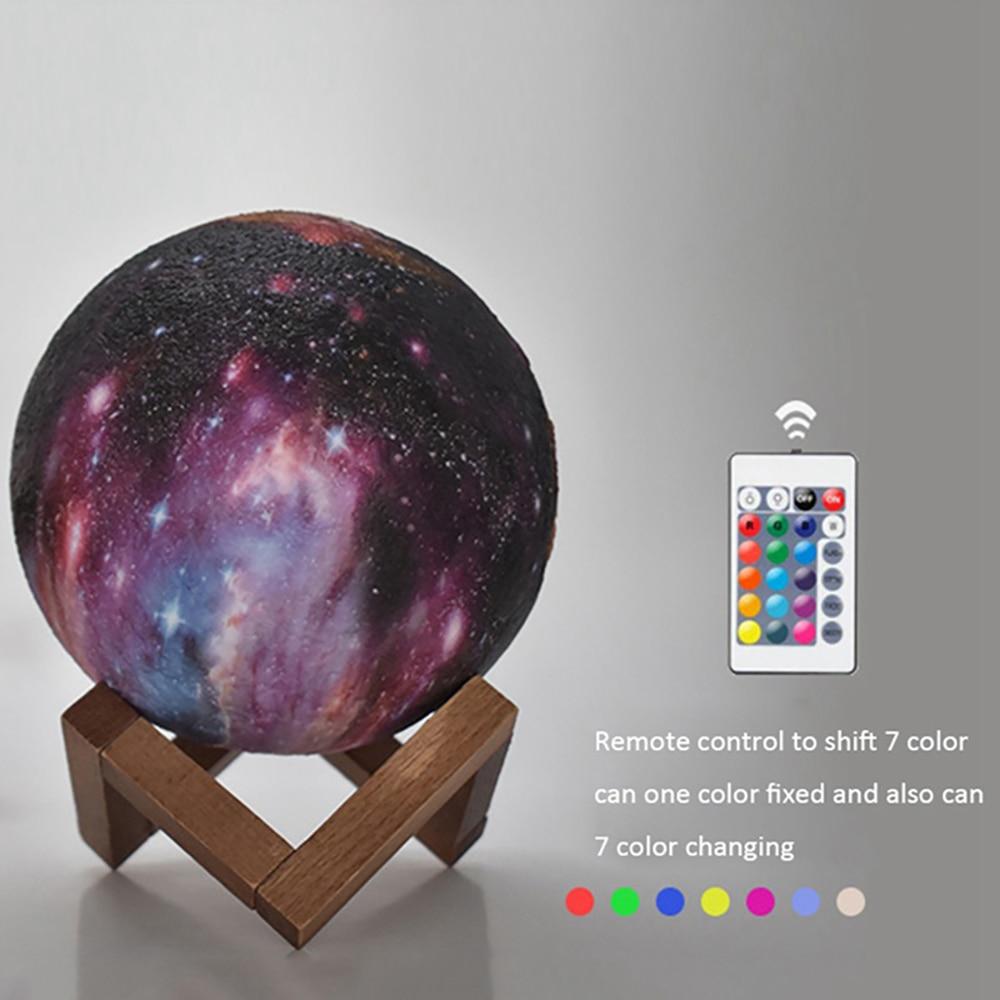 Galaxy Moon Lamp LED 3D Print Star Light 16 Colors Change RemoteTouch Creative Gift USB Moon Night Light Galaxy Lamp Home Decor (2)