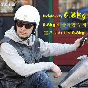 Image 5 - Glass Fiber Vintage Motorcycle Helmet TT&CO 500TX Retro Scooter Jet Open Face Small Shell TTCO Motorbike Riding Capacete Moto