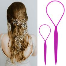 Styling-Tool Braid-Maker Ponytail Hair Loop Plastic 4pc/Set