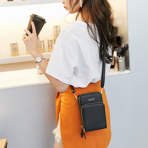 Image 5 - Cartera cruzada para teléfono móvil pequeño para mujer, Mini bolsos de piel ligera, bolsa para teléfono móvil con correa, ranuras para tarjetas