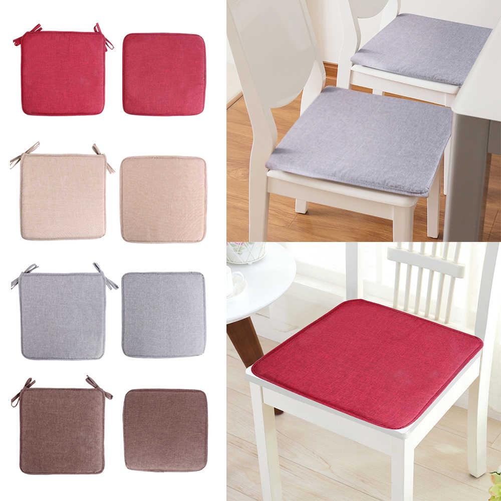 Новинка 2019 40x40 см Нескользящая подушка для дивана одноцветная квадратная сиденья