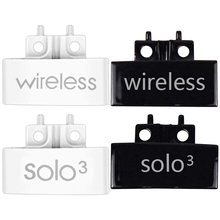 2 Pair Hinge Replacement Headband Connector Hinge Clip Cover for Beats Solo 3 Wireless A1796, White & Bright Black