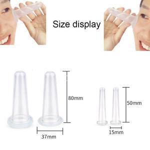 4 шт./компл. вакуумные банки для вакуумного массажа, силиконовая чашка для массажа лица, Вакуумная Массажная чашка для тела лица унисекс, прочная Прямая поставка