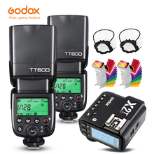 Godo x 2 шт. TT600 Камера Вспышка Speedlite + 1 шт. X2T Беспроводной триггер трансмиттер для вспышки для цифровой зеркальной камеры Canon Nikon Fujifilm Sony Olympus