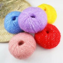 25g/ball 4 PCS=100g RX14 cotton yarn Mohair for knitting wool jewelry Plush chunky Hand Knitting Thread