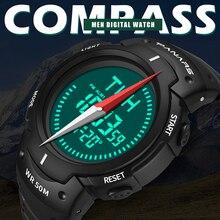 PANARS Спортивные Цифровые мужские часы с компасом, электронные наручные часы, мужские часы с хронографом и таймером, будильник 8208
