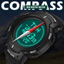 Men Watch Compass Digital PANARS Electronic Timer Alarm-Clock Chronograph Count-Down