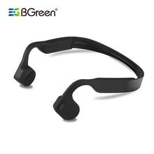 BGreen עצם הולכה אלחוטי ספורט Bluetooth אוזניות סטריאו אוזניות ספורט אוזניות עם מיקרופון תמיכת שיחת טלפון