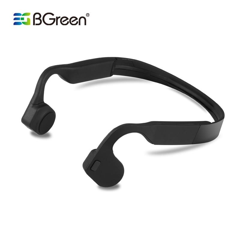 Bgreen Bone Conduction Wireless Sport Bluetooth Headphone Stereo Earphone Sports Headset With Microphone Support Phone Call Bone Conduction Sport Bluetoothbluetooth 4 0 Earphone Aliexpress