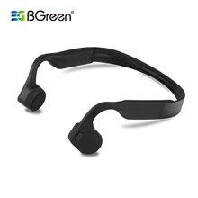 Bgreen condução óssea esporte sem fio bluetooth fone de ouvido estéreo esportes fone com microfone apoio chamada telefone