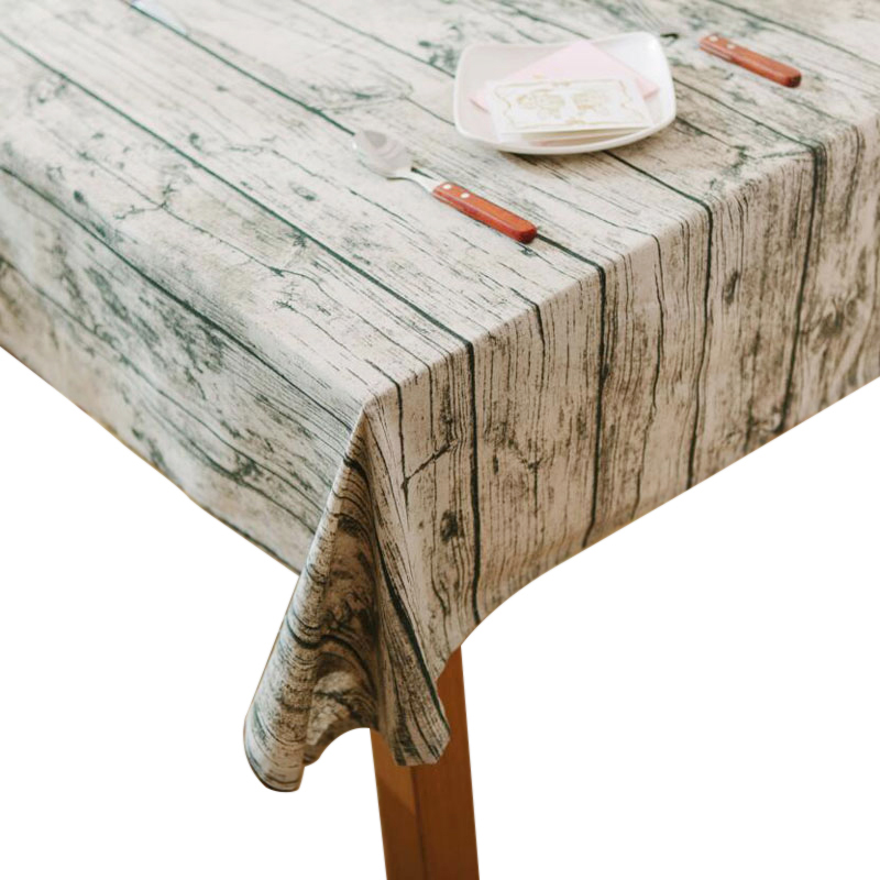Wood Grain Pattern Decorative Table Cloth Cotton Linen Tablecloth Dining Table Cover For Kitchen Home Decor 140x180cm Tablecloths     - title=