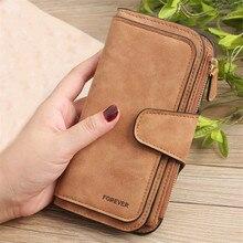 Women Scrub Leather Long Wallet High Quality Ladies Clutch