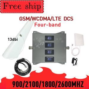GSM WCDMA LTE DCS 900/1800/2100/2600 МГц четыре Диапазонный усилитель сигнала для мобильного телефона, 2G 3g 4G 70dB коэффициентом усиления Мобильный Сотовая св...