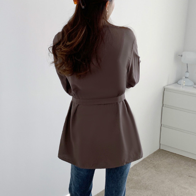 Women Loose Shirts Long Sleeve 2020 Spring Autumn Fashion Casual Chiffon Shirt Female Streetwear Vintage Blouse Tops Lace Up 5