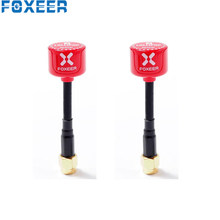 2 pièces Foxeer 5.8G sucette 3 2.5DBi Mini LHCP SMA mâle rouge FPV antenne pour RC course Drone modèles pièces de rechange bricolage accessoires