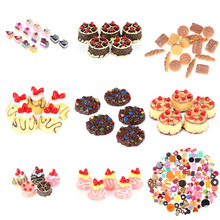 Food-Scene-Model Doll-House-Accessories Miniature Simulation Resin DIY 6/10pcs/set