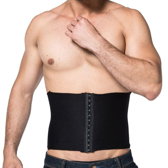 Mens Slimming Belt Waist Trainer Shapewear Back Support Band Fat Burner Sweat Trimmer Body Shapers Tummy Cincher Corset X5XC 2