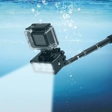 2019 yeni GoPro dalış el feneri lambası su geçirmez LED flaş Video ışığı GoPro Hero 9/8/7/6/5/4/3 SJCAM SJ4000/Xiaomi Yi