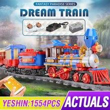 Toys Bricks Rail Train Model Building-Blocks City-Train Mould King High-Tech Girls Children