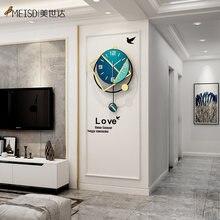 Meisd современный дизайн часы маятник декоративные квадратные