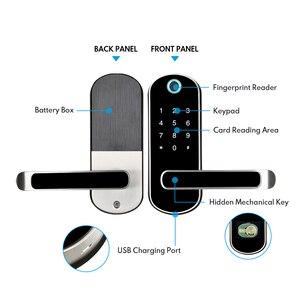 Image 4 - Смарт замок TTlock с отпечатком пальца, wifi приложение с водонепроницаемой кнопочной клавиатурой, электронный дверной замок, биометрический замок с дистанционным управлением