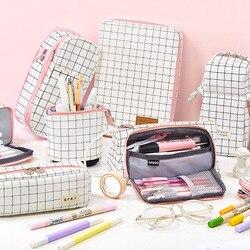 Super Big Pencil Case Canvas Large Capacity Pencilcase School Pen Case Supplies Pencil Bag School Box Pencils Pouch Stationery