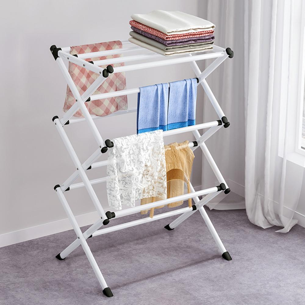 Folding Clothes Horse Airer Drying Clothes Hanger Laundry Clothes Dryer Folding Rack Indoor Outdoor