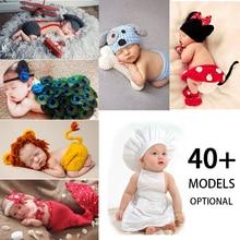 Crothet реквизит для фотосъемки новорожденных трикотажные аксессуары для фотосъемки костюм для маленьких мальчиков и девочек фотосъемка ново...