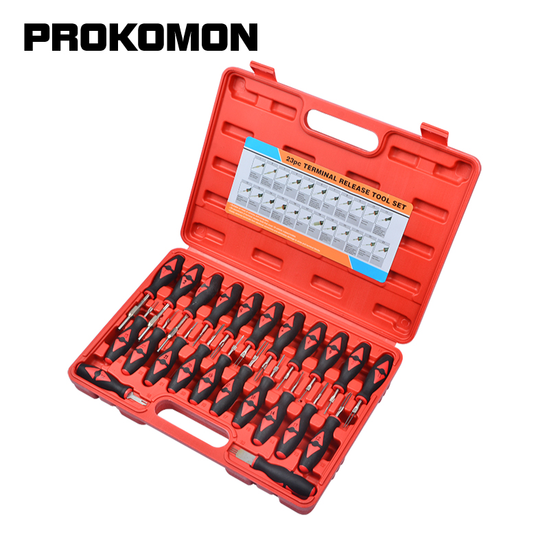 23pcs Car Universal Terminal Release Removal Tool Set Automotive Wiring Connector Crimp Pin Extractor For BMW Ford VW
