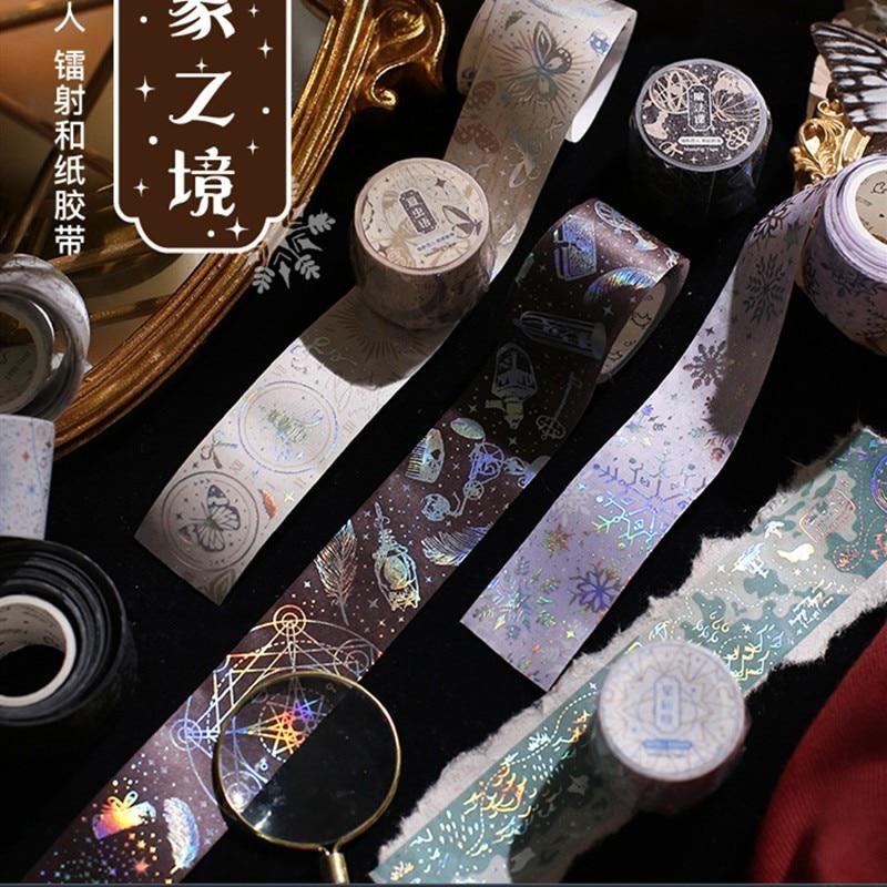 Journal Gold Foil Washi Tapes Craft Decoration Paper tape Scrapbooking Masking Tape Japanese Washi Tape Planner