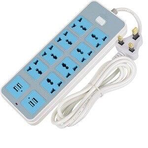 Image 3 - Nowa uniwersalna moc Strip Way AU UK ue gniazdka wtykowe przedłużacz 8AC 4USB porty przejściówka do ładowarki