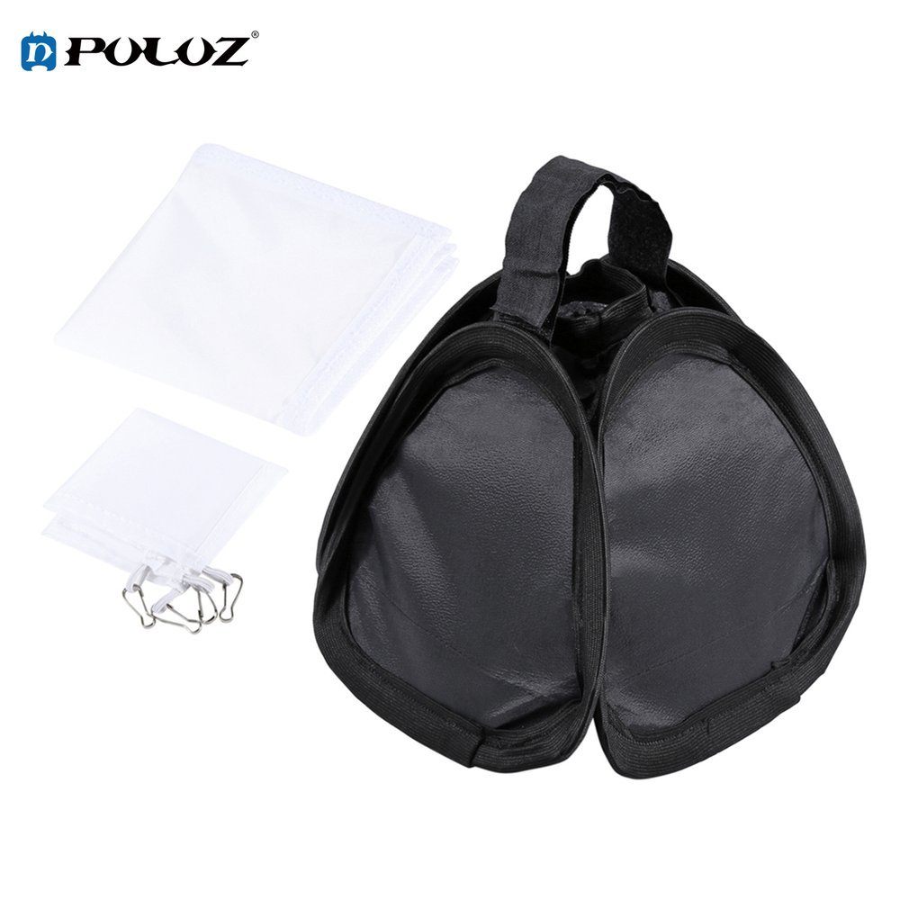 PULUZ 23X23cm Portable Foldable Flash Lightsphere Universal Softboxes For Perfect Camera Photograph Uniform Exposure