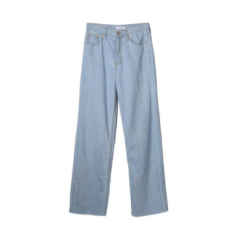 Hoge Taille Jeans Vrouwen 2019 Herfst Winter Casual Wijde Pijpen Broek Vrouwelijke Harajuku Korea Losse Rechte Broek Boyfriend Jeans