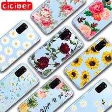 Chrysanthemum Rose Soft TPU Case for Samsung Galaxy S10 S9 S8 S7 S20 Plus Ultra S10e A50 A51 A71 A70 A20E A10 A40 NOTE 10 9 Plus chocolates design glass case for samsung s7 edge s8 s9 s10 plus s10e note 8 9 10 a10 a30 a40 a50 a60 a70