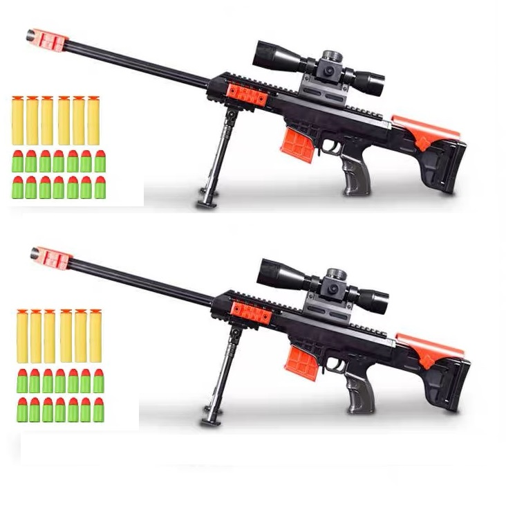 Toy Sniper Rifles (2 Pieces), Can Shoot Nerf And Horn Bullets