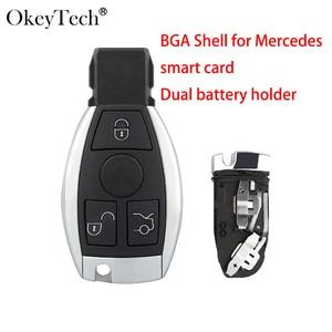 Okeyetch 3 кнопки дистанционный смарт-брелок для MB Mercedes Benz CLS C E S W124 W202 с держателем батареи