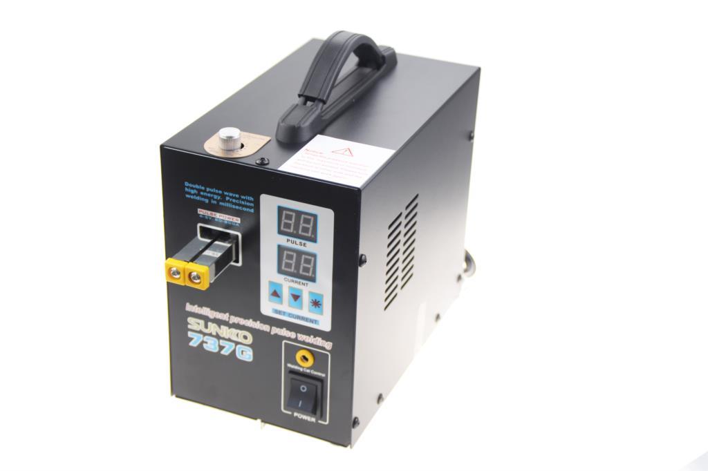 Double Digital Welder For Welding 18650 LED With Dual 737G Battery Pulse Display Needles Machine Spot Welding SUNKKO