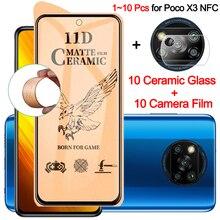 1~10 sztuk, miękkie ceramiczne szkło hartowane Poco X3 Pro NFC ochraniacz ekranu Poko X3 NFC Glass Xiaomi Poco X 3 GT 5G matowe szklo poco x3 folia na aparat fotograficzny poco x3 nfc screen protector Poco X3 Pro Glass