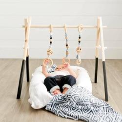 Decoración nórdica para habitación de bebé, juguete de gimnasio, juguete sensorial de madera para guardería, juguete para regalo, Perchero de ropa para habitación infantil, accesorios de fotografía