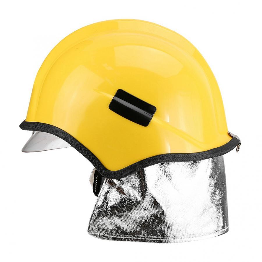 Casco de seguridad de bombero a prueba de fuego, protección contra la radiación, resistente al calor, casco de seguridad trabajo Camaras de seguridad simuladas de vigilancia con Flash LED parpadeantes con domo falso para el hogar CCTV