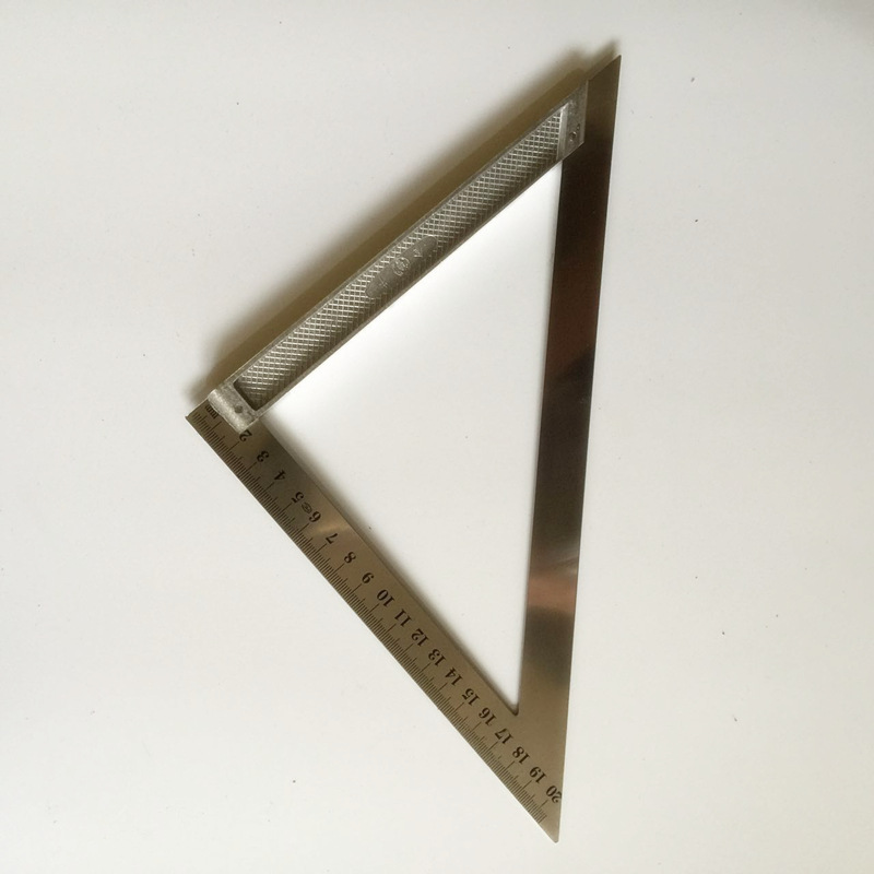 90-Degree Square Stainless Steel Triangle Ruler Woodworking Steel Rulers L-square 45-Degree Square Combination
