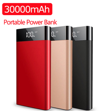 30000mAh Ultrathin Power Bank Fast Charge Slim Powerbank Dua