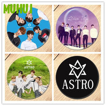 Free Shipping Kpop ASTRO Brooch Pin Badges For Clothes Backpack Decoration Jewelry B056(China)
