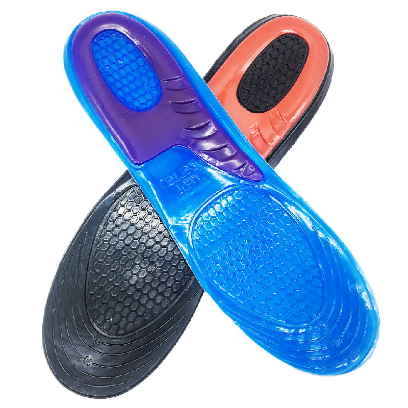 Silicone Gel Insoles For Feet Man Women Shoes Sole Padded Orthotic Pad Massaging Shoe Shock Absorption Arch Support Insoles