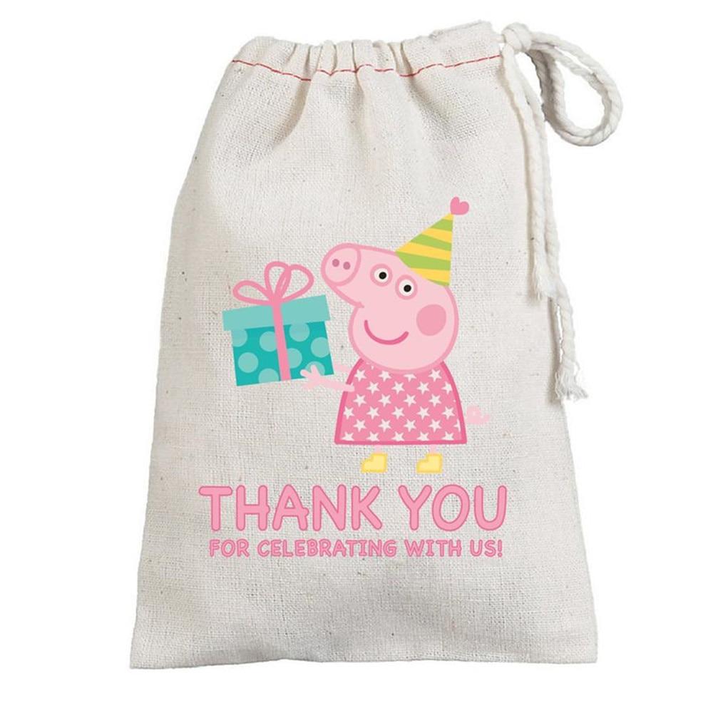 Pig Gift Bag Custom Birthday Favor Bags Party Thank You Bag Wedding Welcome Bag Bachelorette Girls Weekend Drawstring Canvas Bag