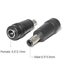 5.5X2.1 Mm Vrouwelijke Converter Power Plug Charger Kabel Adapter Voor Samsung R540 P460 P530 Q430 R430 Laptop Adapter dc Uitgang