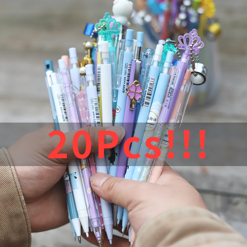 20Pcs/Set Mechanical Pencil 0.5mm/0.7mm Pencils Pen For Writing Kids Girls School Office Supplies Stationery Pencils Pen