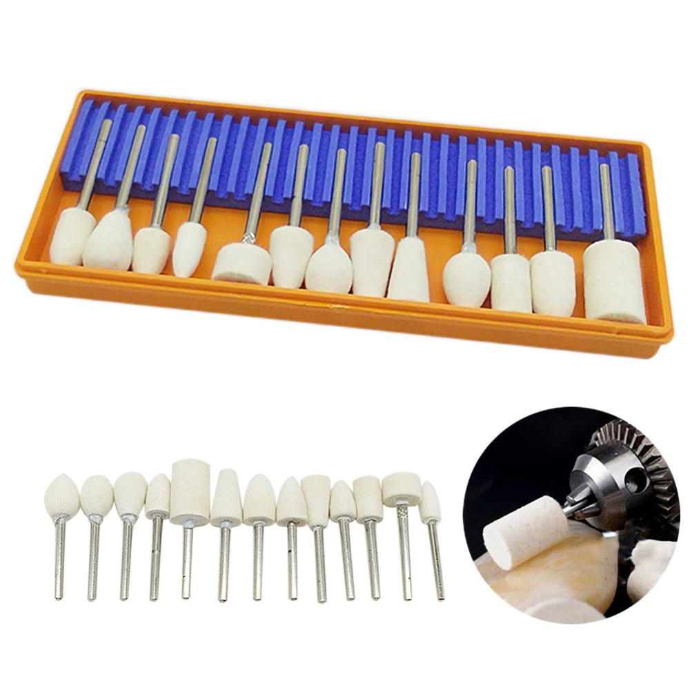 13pcs Drill Bit Sharpener Power Tool Polishing Corundum Grinding Wheel Head Engraving Grinder/Tips Machine Grinding Nozzles
