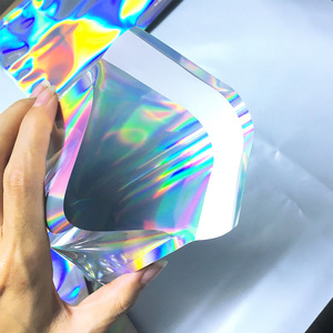 Image 4 - 100 stücke Laser Self Sealing Kunststoff Umschläge Mailing Lagerung Taschen Holographische Geschenk Schmuck Poly Klebstoff Kurier Verpackung Taschen